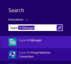 Searching for hyper-v